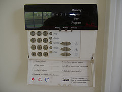 photo of security alarm